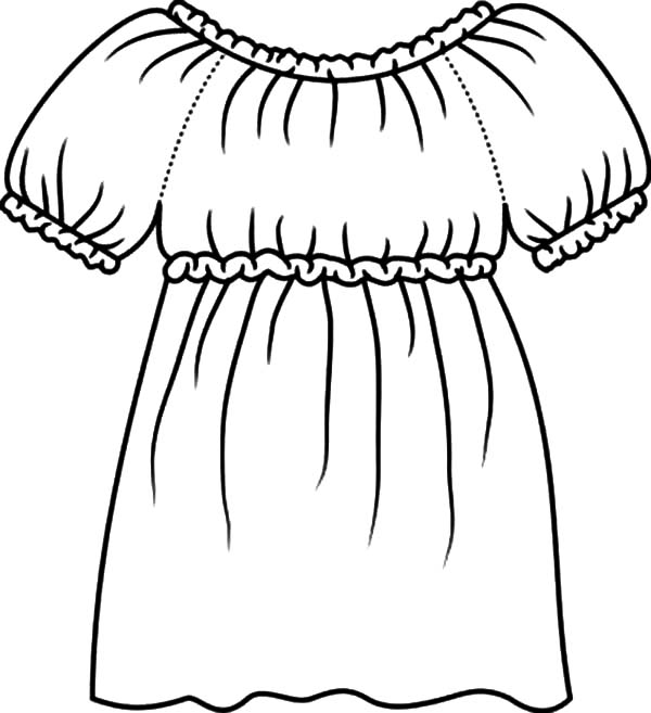 Dress Coloring Pages | Free download best Dress Coloring Pages on ...