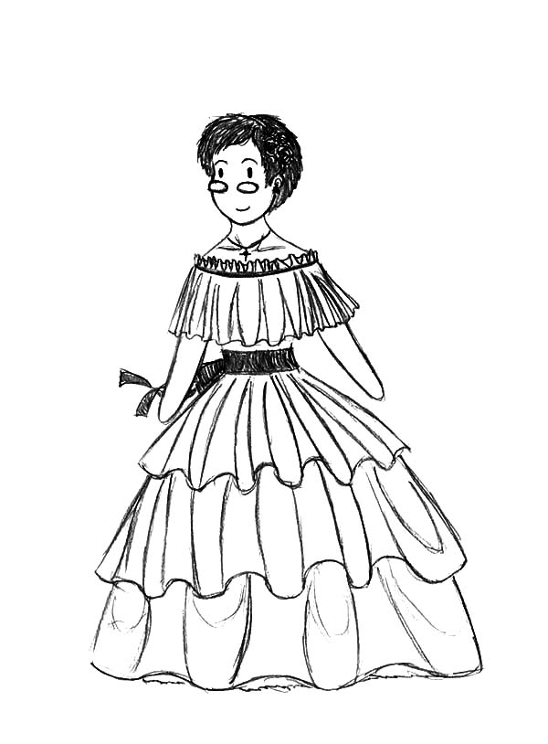 Dress Coloring Pages Free download