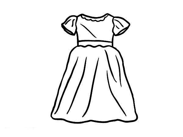 coloring page of a dress - dress coloring pages free download best dress coloring