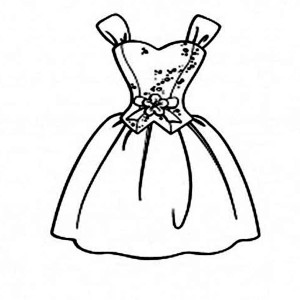 300x300 Prom Dress Coloring Pages 21370,