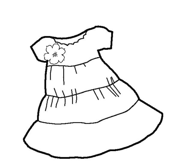 600x542 Short Sleeves Shift Dress Coloring Page Coloring Sun