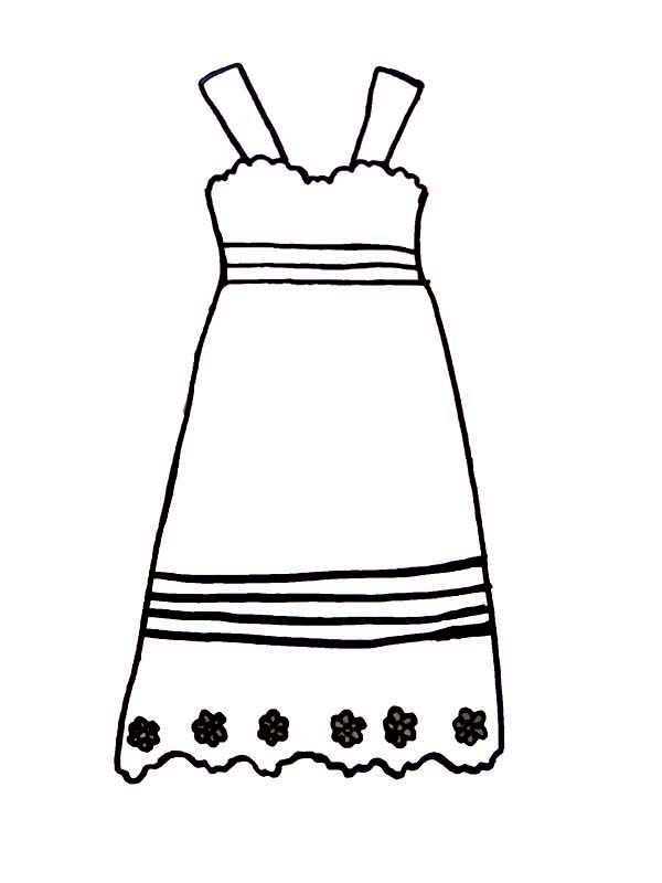 prom dress coloring pages