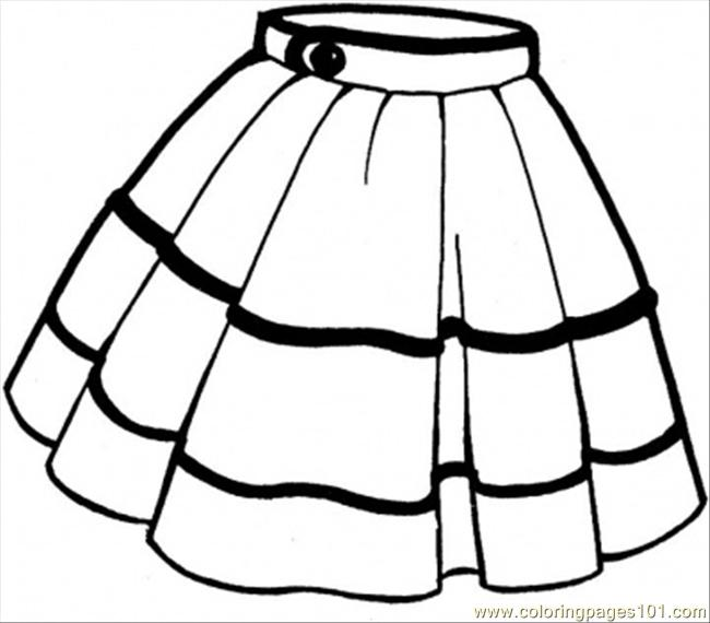 650x570 Skirt Coloring Page