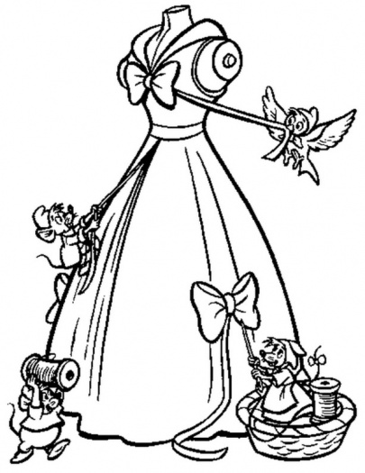 405x525 Cinderella Wedding Dress Coloring Pages Coloring Pages
