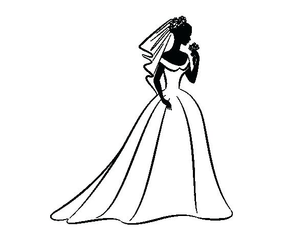 600x470 Incredible Extraordinary Wedding Dress Coloring Pages Kids