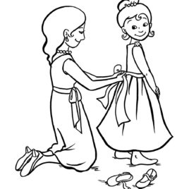 268x268 Coloring Page Dress Up Kids Drawing And Coloring Pages
