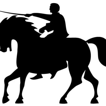 Dressage Horse Silhouette Clipart