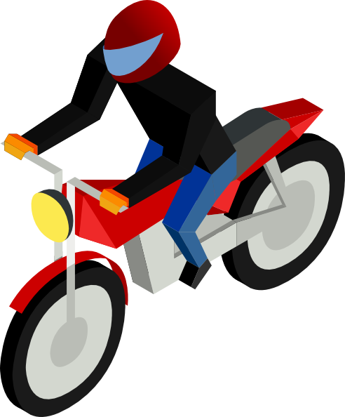 492x594 Motorcycle Driver Clip Art