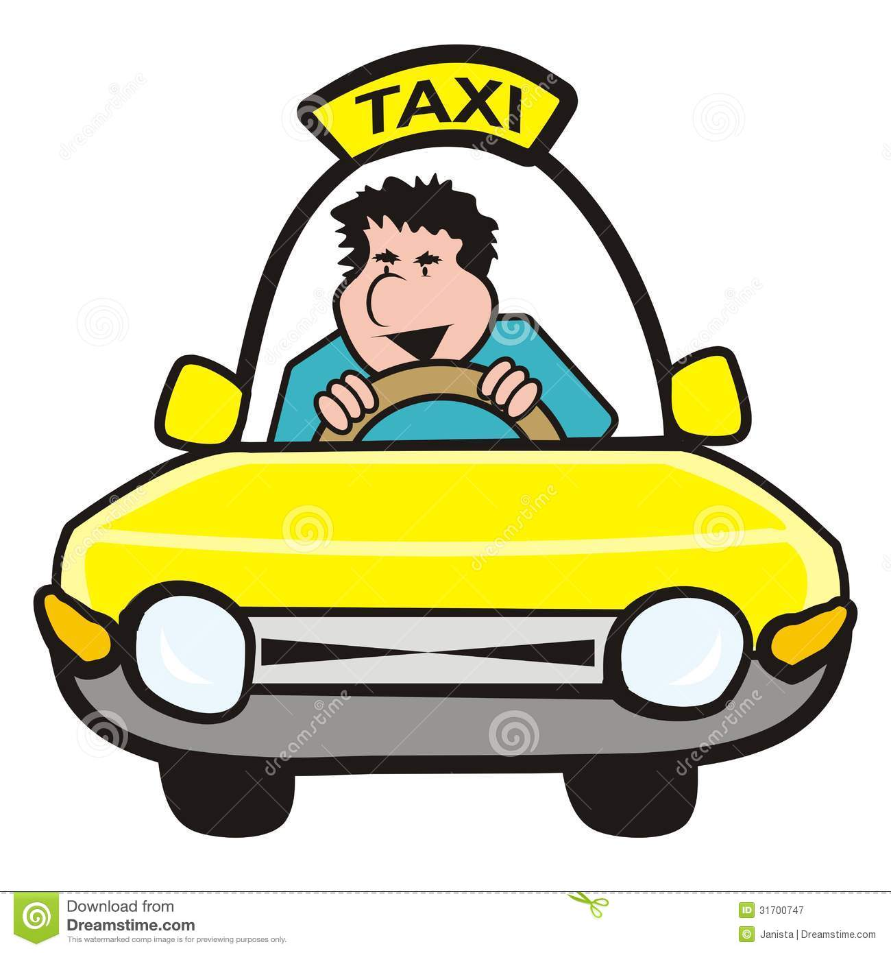 1300x1390 Taxi Driver Clipart