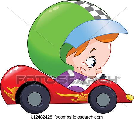 450x402 Clip Art Of Kid Race Car Driver K12482428