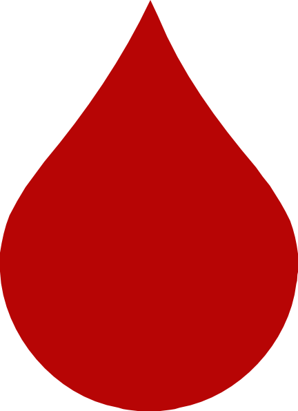 432x595 Red Blood Drop Clip Art