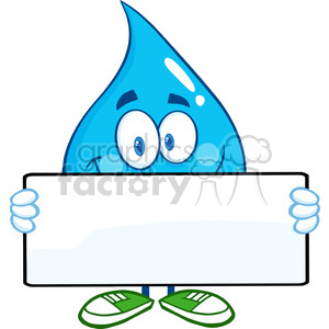 300x300 Royalty Free 6208 Royalty Free Clip Art Water Drop Cartoon Mascot