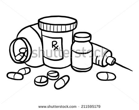 450x358 Drugs Clipart Sketch