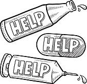 170x165 Clip Art Of Help With Drugs And Alcohol Sketch K12005797