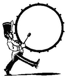 236x276 Marching Band Bass Drum Snare Sketch Clipart