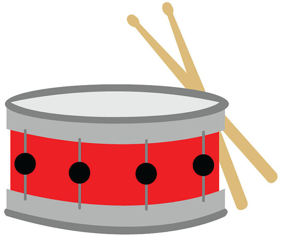 570x477 Snare Drum Clip Art Red Snare Drum With Drumsticks Vector