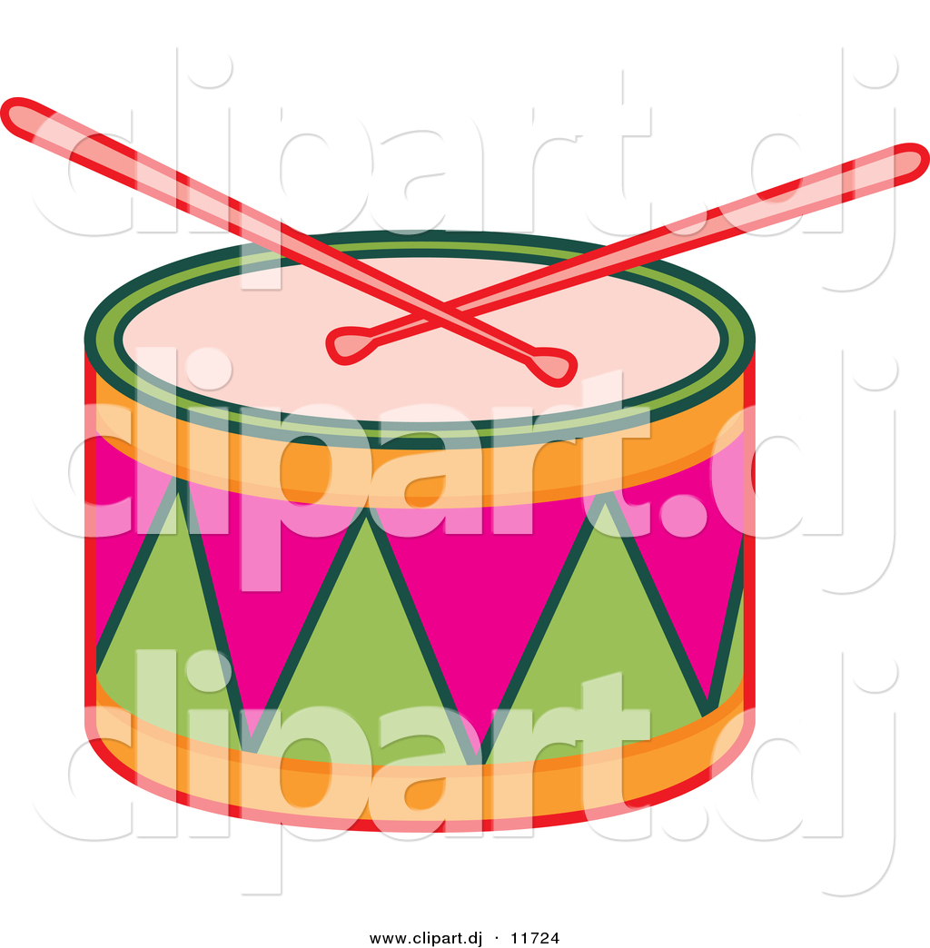 1024x1044 Vector Clipart Of Drumsticks On Colorful Drum By Cherie Reve