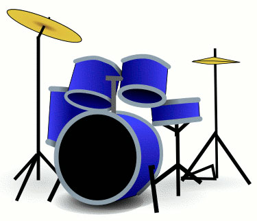 375x322 Blue Clipart Drum Set