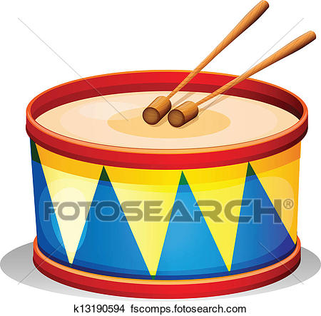 450x443 Clipart Of A Big Toy Drum K13190594