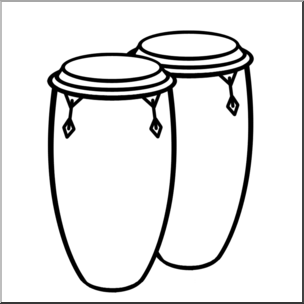 304x304 Clip Art Congo Drums Bampw I Abcteach