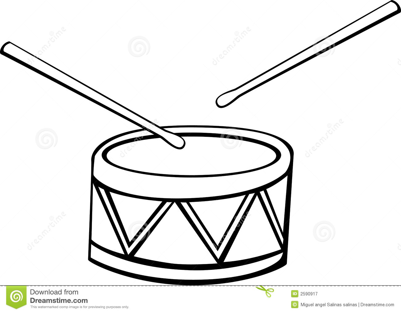 1300x1016 Drum Black And White Clipart