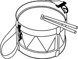 160x120 Drum Black And White Clipart