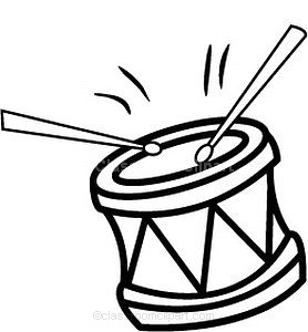 278x300 Drum Black And White Clipart