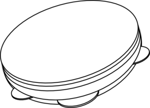 300x216 Drum Outline Clip Art