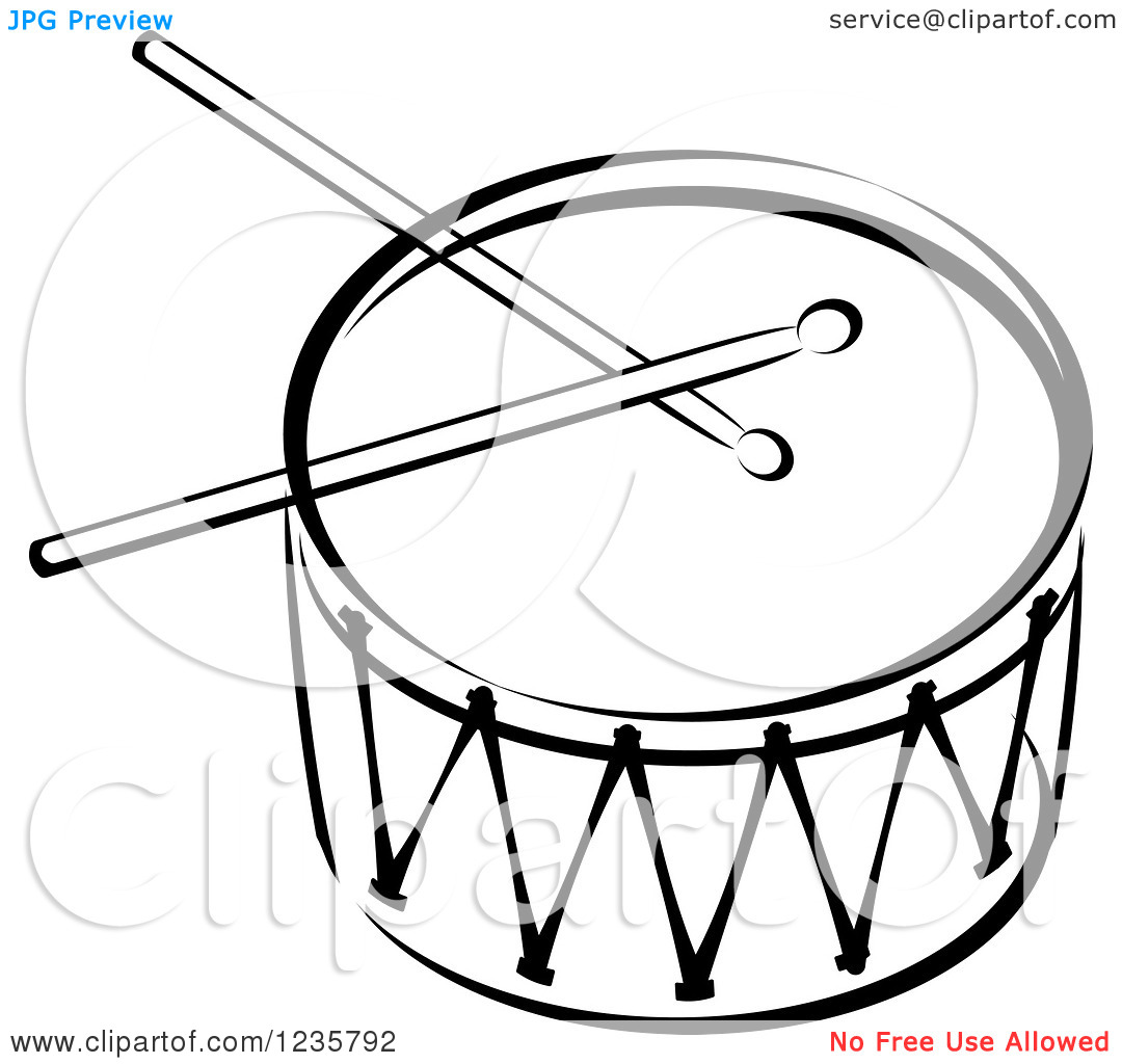 1080x1024 Drum Set Clipart Black And White Clipart Panda