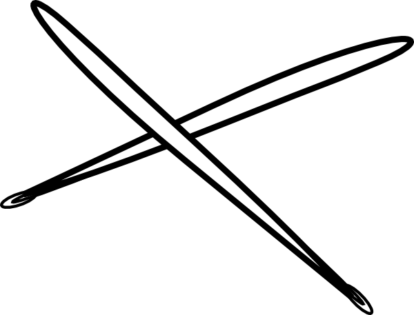 600x457 Drum Stick White Clip Art