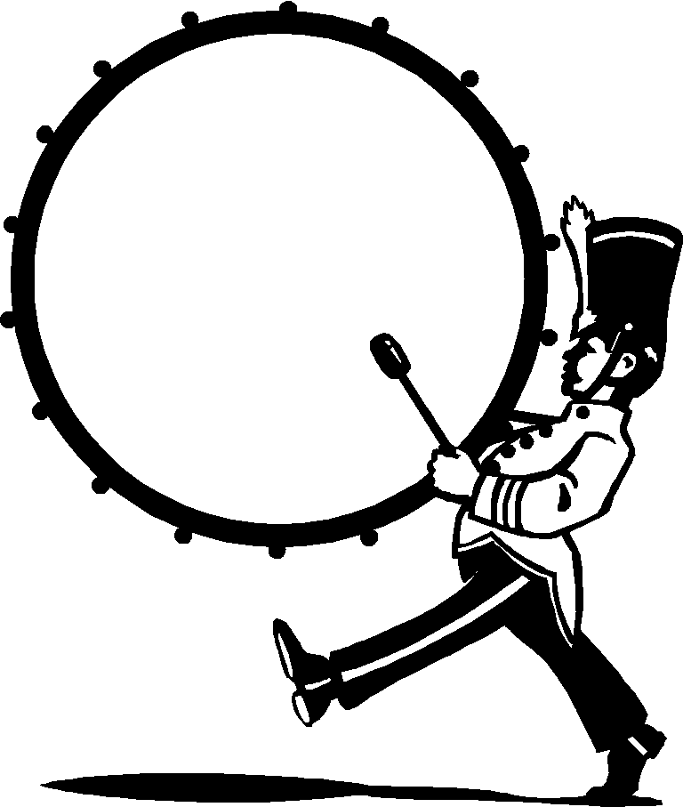 768x907 Marching Band Bass Drum Clip Art