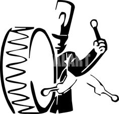 236x226 Marching Band Drum Silhouette Black And White Clipart