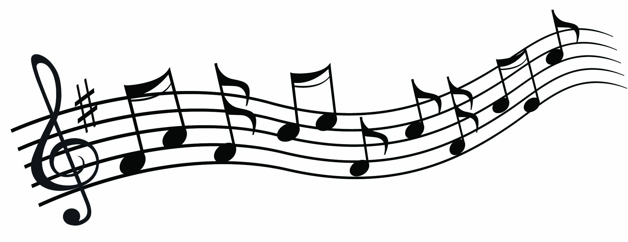 2184x843 Music Clipart Black And White
