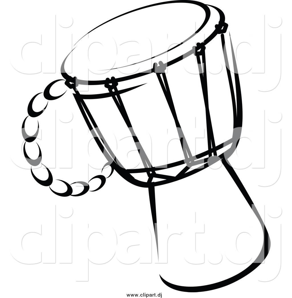 1024x1044 Vector Clipart Of A Drum Black And White By Vector Tradition Sm