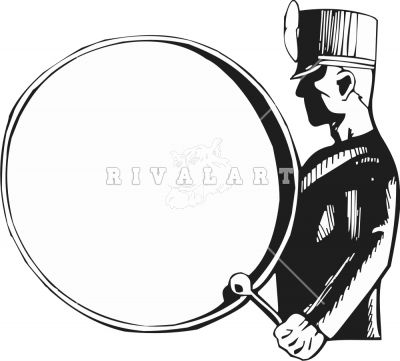 400x361 Bass Drum Marching Band Clip Art Clipart