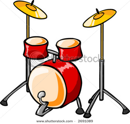 450x429 Clip Art Picture Of A Drum Set Or Set Of Drums Used By A Small Band