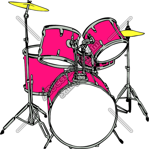 499x500 Drum Kit Clipart Cliparthut