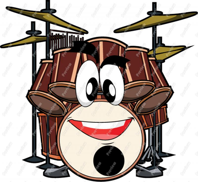 800x736 Drum Set Character Clip Art