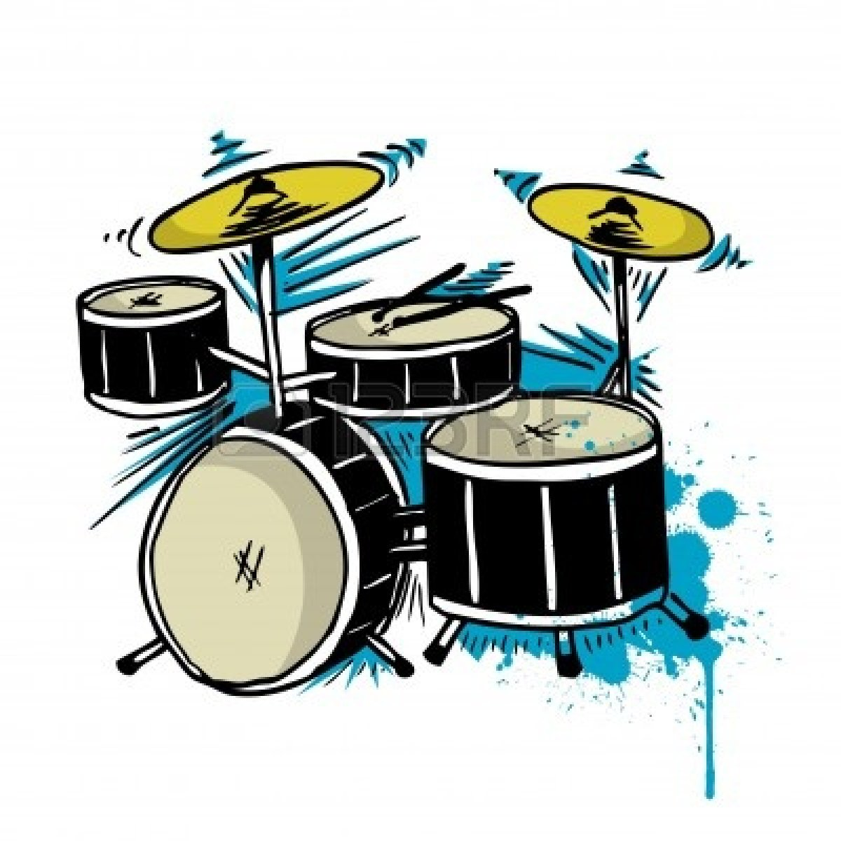 1200x1200 Drum Set Clipart