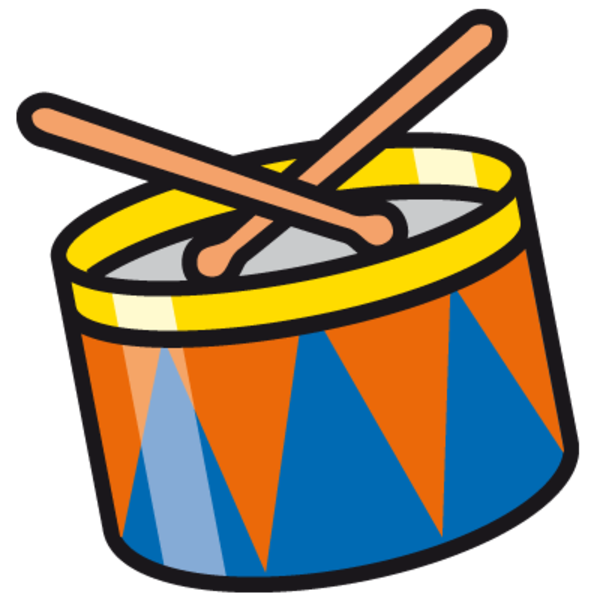 600x600 Drum Set Clipart