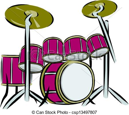 450x401 Pink Clipart Drum Set