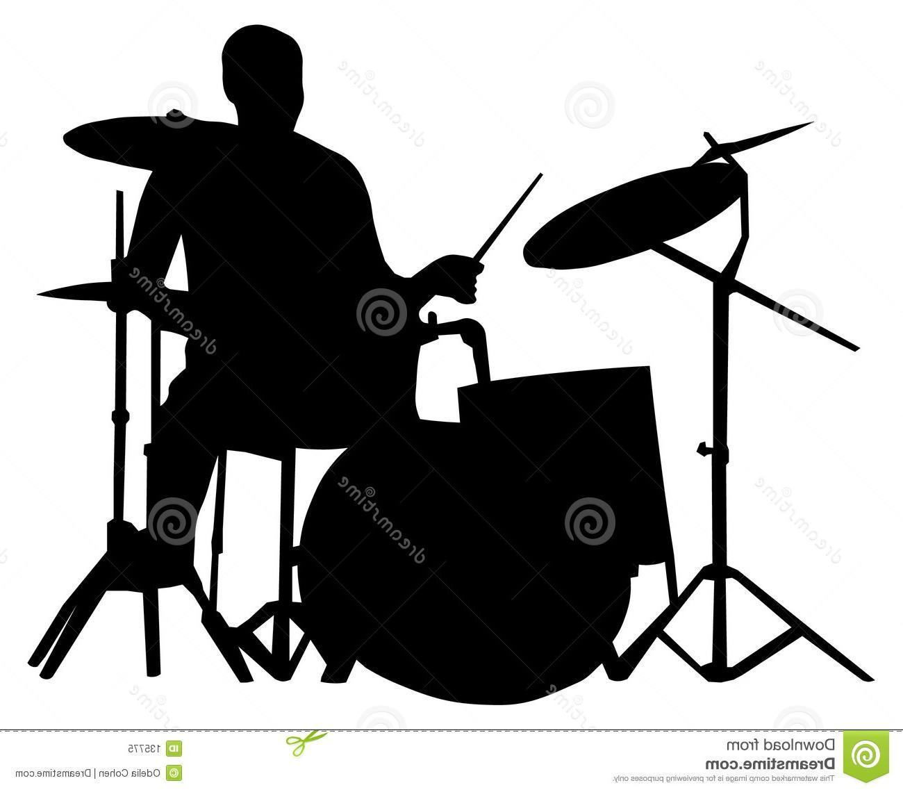 1300x1140 Best 15 Drum Set Silhouette Drummer Image