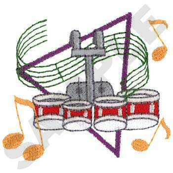 350x350 Tenor Drums Clipart