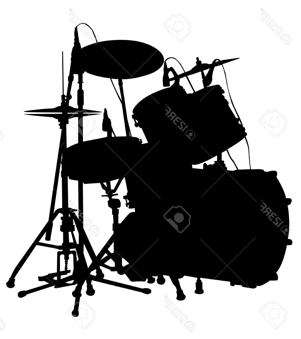 1155x1300 Top Drum Set Is On The Scene Silhouette Vector Stock Cdr