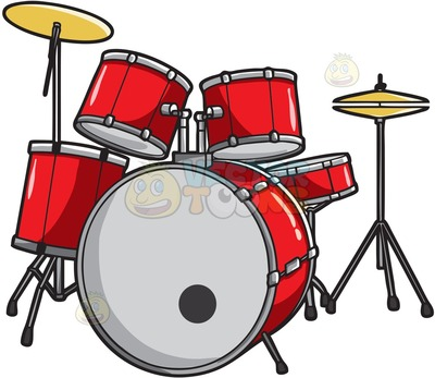 400x347 Drum Set Clipart