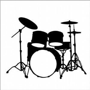 300x300 Drum Silhouette Clip Art