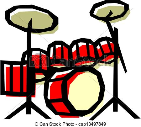 450x405 Drum Kit Clipart