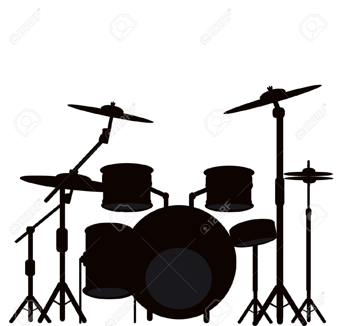 1300x1259 Drum Kit Clipart Collection
