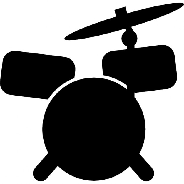 626x626 Drum Set Cartoon Variant Icons Free Download