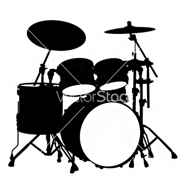 380x400 Graphics For Drum Set Black And White Graphics